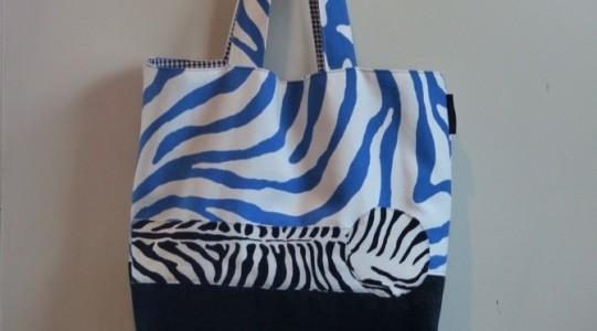 zebra patch tote 2